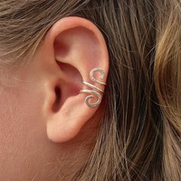 Hand Hammered Silver Filled Ear Cuff