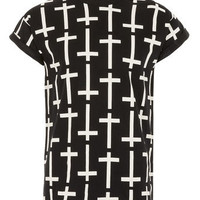Black Cross Hi Roll T-shirt - View All  - New In