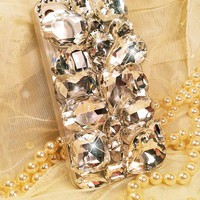 gemstone big rivet twinkle case for iphone 4/4s/5