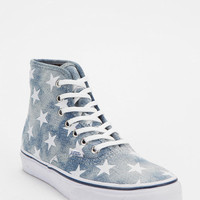 Urban Outfitters - Vans Authentic Washed Denim High-Top Sneaker