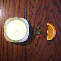 Sweet Orange and Thyme pure aromatherapy soy candle - 6oz Ball Mason Jar, fresh, spring, citrus