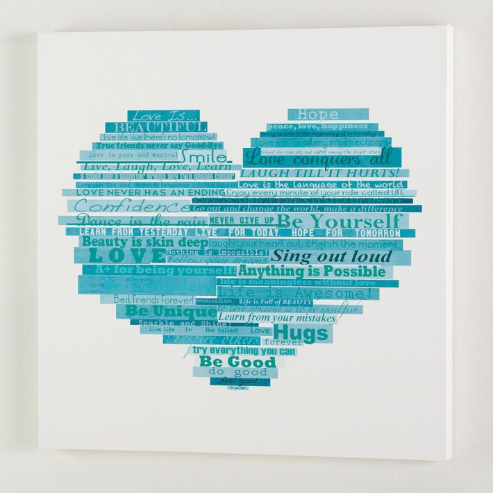 Graphic Quotes Wall Art   White Or Pool : Graphic quotes wall art wh from pbteen on wanelo