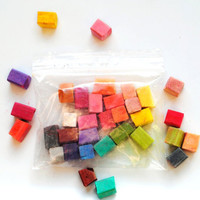 RAINBOW SAMPLER Set - Hair Chalk // Broken Pieces / Sample Set Every Color Tints // Boho Emo Scene Pastel Set // Safe for Human Hair