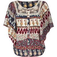 FULL TILT Crochet Bib Womens Top 183684249 | blouses & shirts | Tillys.com