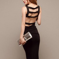 Little Black Halter Dress$45