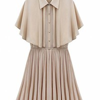 Sweet Sleeveless Chiffon Dress Beige$79