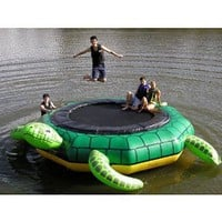 Amazon.com: Island Hopper Turtle Jump 15 Foot Water Trampoline 2012: Toys &amp; Games