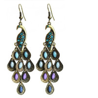 peacock earings