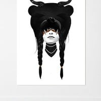 Ruben Ireland Bear Warrior Wall Mural