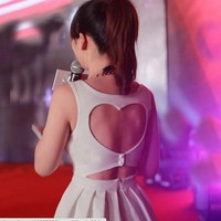 doshow  Heart Shaped Back Party Dress