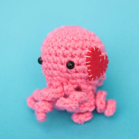 Valentine's Day Mini Octopus Amigurumi Plushie - Choose your colors for this adorable plush