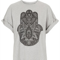 **Hand Boyfriend T-Shirt by Illustrated People - Jersey Tops - Clothing - Topshop