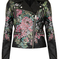 Printed Floral Biker Jacket - New In This Week  - New In