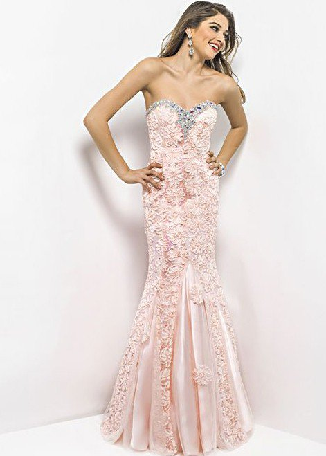 blush prom 9582 peach mermaid dress from rissy roos