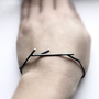 Sticks 02 oxidized sterling silver twig bracelet by andrea0503