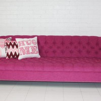 www.roomservicestore.com - Bel-Air Hot Pink Tufted Sofa