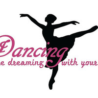 Wall Decal, Dance, Ballet, dance studio decor, girls room decor, Quote, Wall sticker, Vinyl Decal, By Otrengraving on Etsy