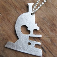 Supermarket: MICROSCOPE sterling necklace from Ball and Chain jewelry