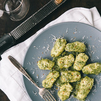 Ricotta Dumplings with Kale Pesto | a Couple Cooks