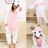 Unisex Blue/Pink Unicorn Kigurumi Anime Cosplay Costume Pajamas Jumper suit
