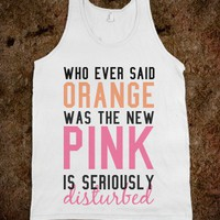 New Pink Tank - Happy Friday