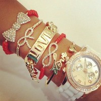 Belle La Vie Boutique  Coral &amp; White Watch Set