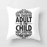Creative Throw Pillow by Matthew Bartlett