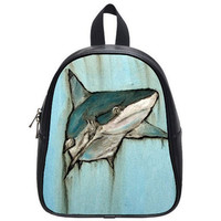 Shark Backpack Kingpin by HeavenlyCreaturesArt on Etsy