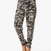 High-Waisted Geo Print Pants | FOREVER 21 - 2024770075