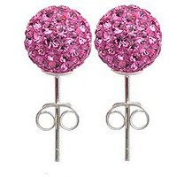 ONE Pair of Crystal Stud Earrings By Glitz Jewelz  - 5/16&quot; (8mm) - Bling Bling!! Comes Packed in a Lovely Velvet Pouch - For the Matching Pendant (2nd Picture ) and Other Colors/sizes Choose From the Menu Below: Jewelry: Amazon.com