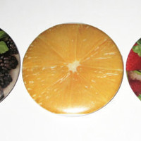 Fun Fruit Fridge Magnets by plaidpearls on Etsy
