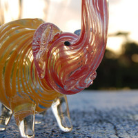 "5"" Glass Elephant Pipe"