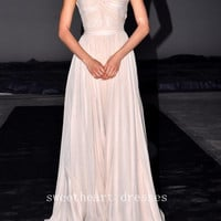 Sweet chiffon chiffon Floor-Length prom dress