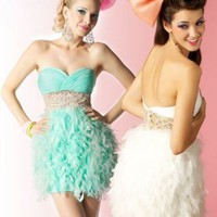 Sweetheart Grass Mini Prom Dress With Sequin 5262