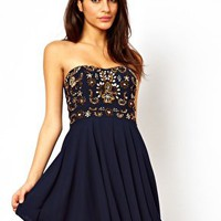 Dress With Jewel Bustier