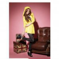 Cotton Red / Yellow Hood Pretty Korean Jacket [RU7521] - USD15.48 : Buy Cheap Clothes Online | Korean Fashion Clothing | Asian Fashion Clothing | Korean Fashion Clothes | Asian Korean Fashion