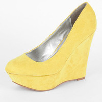 Worthy Wedges in Yellow :: tobi