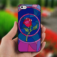 Beauty and Beast rose glass Cust - Photo on Hard Cover For iPhone 4/4S
