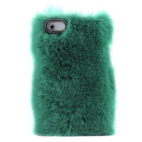 Bestgoods  Unique Green Soft Fur Hard Cover Protective Case For Iphone 4/4s/5