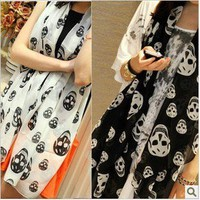 Bestgoods  Cool Skull Scarf Collar