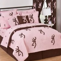 Amazon.com: OFFICIALLY LICENSED PINK BROWNING BUCKMARK REVERSIBLE COMFORTER SET - QUEEN: Home & Kitchen