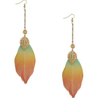 Ombre Feather Earrings | FOREVER21 - 1000043583