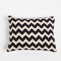 Crewel Embroidered Zigzag Pillow | Urban Outfitters