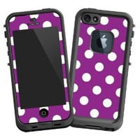 Amazon.com: White Polka Dot on Purple &quot;Protective Decal Skin&quot; for LifeProof 5 Case: Electronics