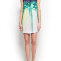 MANGO - NEW - Watercolor floral print dress