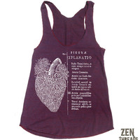 Womens Anatomical HEART american apparel TriBlend by ZenThreads