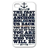 Amazon.com: Apple iPhone 4 4G 4S Anchor Naval Quote Design WHITE Sides Slim HARD Case Skin Cover Protector Accessory Vintage Retro Unique AT&T Sprint Verizon Virgin Mobile: Cell Phones & Accessories