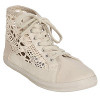 Crochet High-Top Sneakers | Shop Shoes at Wet Seal