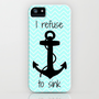 I Refuse to Sink - Chevron iPhone Case by Samantha Ranlet | Society6
