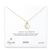 mom one in a million keshi pearl necklace, gold dipped